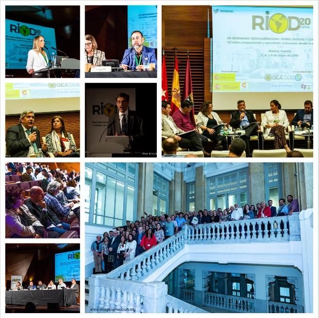 Ponencias XX Seminario RIOD Iberoamericano sobre Drogas y Cooperación, mayo 2018